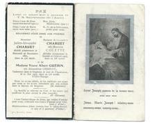 IMAGE PIEUSE..Avis Décès MEMENTO..J. CHARUET, Décédé 1862, Me CHARUET En 1905, Vve GUERIN En 1903, à VILLERS BOCAGE (14) - Images Religieuses