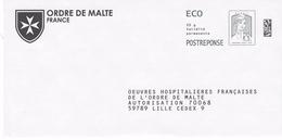 PAP REPONSE CIAPPA ECOPLI :  ORDRE DE MALTE.16P100 - Entiers Postaux