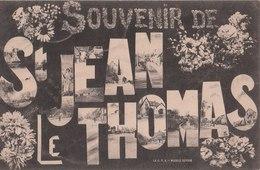 SAINT JEAN LE THOMAS  ( 50 )  Souvenir De St Jean Le Thomas  ( Port Gratuit ) - Other Municipalities