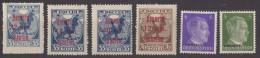 Lot De 6 Timbres Oblitérés   De RUSSIE (T21 ) Années 20 Années 40 ( Deutsches Reich Ukraine - 1917-1923 Republic & Soviet Republic