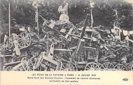 MILITARIA - EVENEMENT - LES FETES DE LA VICTOIRE 13-14 JUILLET 1919 : Pyramide De Canons Allemands - CPA - Otros