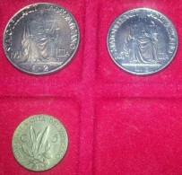 LOTTO DI MONETE DEL VATICANO PAPA PIO XII DA 1-2 LIRE 1942 E 5 CENT.1940 SPL/FDC - Vaticano
