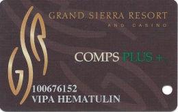 Grand Sierra Casino Reno, NV Slot Card - Green Plus - Casino Cards