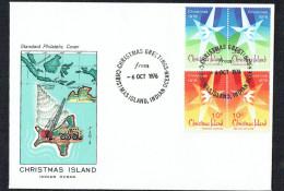 Christmas Island  1976  Christmas Issue  Unaddressed FDC - Christmas Island