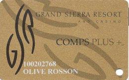 Grand Sierra Casino Reno, NV - Slot Card  (Color1) - Casino Cards