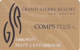 Grand Sierra Casino Reno, NV - Slot Card  (Color2) - Casino Cards