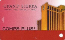 Grand Sierra Casino Reno, NV - Slot Card  (BLANK) - Casino Cards