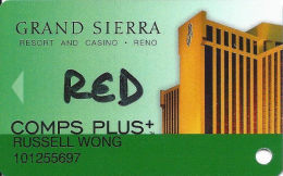 Grand Sierra Casino Reno, NV - Slot Card - Casino Cards