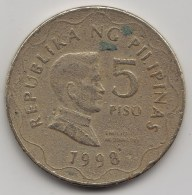 @Y@    Filippijnen  5  Piso   1998      (3608) - Filippijnen