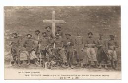 MODANE (Savoie). Au Col Frontière Du Fréjus. Soldats Français Et Italie - Modane