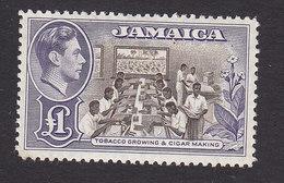 Jamaica, Scott #141, Mint Hinged, Tobacco Industry, Issued 1949 - Jamaica (...-1961)