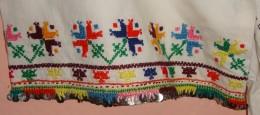 WOMAN LONG SHIRT. NEEDLE WORK & SEQUINS, CHRYSANTHEMUM, SOUTH SERBIA. UNIQUE. - Vintage Clothes & Linen