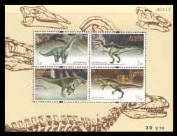 Thailand 1997 Mih. 1804/07 (Bl.103) Fauna. Dinosaurs MNH **