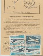 Concorde Ordre De Réexpédition Temporaire 3 Timbres Concorde 1969 - Marcophilie (Lettres)