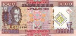 GUINEA 1000 FRANCS 2010 P-43 UNC COMMEMORATIVE [ GN333a ] - Guinea