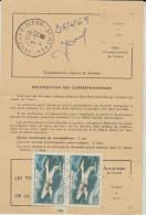Ordre De Réexpédition Temporaire 2 MS 760 Paris DU 26/6/1969 - Marcophilie (Lettres)