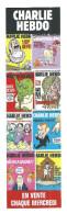"""MARQUE PAGES """" CHARLIE HEBDO """" Les échappés  ( VOIR RECTO/VERSO ) - Marque-Pages"""