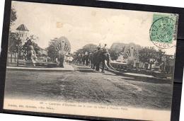 Cambodia Pnomh Penh 1908 Caravan Of Elephants Lezignan à La Nouvelle & Lizignan à St. Pierre Des Champs!! Rare Card (97) - Indochine (1889-1945)
