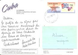 Cuba PAP Carte Postale Pour L'étranger En 2002 - Covers & Documents