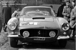Ferrari 250 GT Rallye Solitude-Charbonnières 1962 - An Old Photo Reproduced As A Postcard - Rally Racing