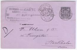 France Sweden Sverige 1889 Stokholm, Canceled Lannoy, Nord - Autres - Europe