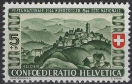 SUISSE SCHWEIZ SWITZERLAND Poste 395 ** MNH Fête Nationale Vue De Heiden - Unused Stamps
