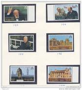 ANGUILLA SET Of 6 Perf 1974 Churchill Roosevelt Statue Blenheim Palace Country House Chartwell  MNH - Anguilla (1968-...)