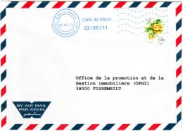Algérie - Flamme Bleue NEOPOST De Tissemsilt  Sur Lettre  (rare). - Algerien (1962-...)