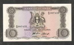 UGANDA : 10 Shillings -1966 - P2 - UNC - Uganda