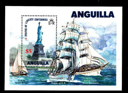 ANGUILLA Statue Of Liberty Centennial Ships Mini Sheet S/S Perf MNH - Anguilla (1968-...)
