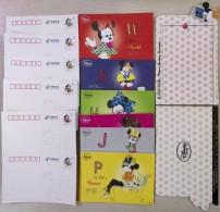 2013 China Disney Minnie Pre-Stamped Postcards 6v - Disney