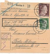 STETTIN 7 - 1942 , Paketkarte Nach Berlin-Halensee - Deutschland