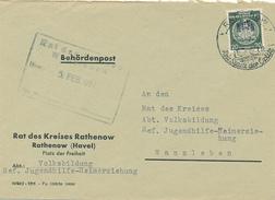 RATHENOW - 1957 , Behördenpost - Rat Des Kreises Rathenow - Nach Wanzleben - Dienstpost