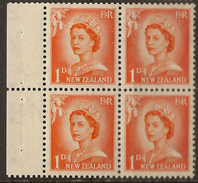 NZ 1957 1d QEII Booklet Pane SG 745 UNHM #WY351 - Carnets