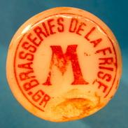 BOUCHON EN PORCELAINE BRASSERIES DE LA FRISE GRENOBLE M - Bière
