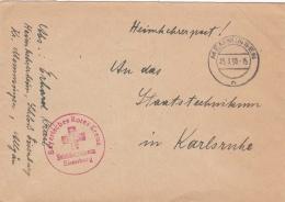 From A German Prisoner Of War Coming Home: Heimkehrerheim In Schloss Eisenburg And With Red Cross Cachet Bayerisches Rot - Militaria