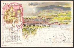CH - Chiasso TI - Litho - Teilansicht Mit Bahnhof - Werbung - Gel. 1901 - TI Ticino