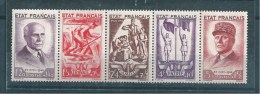 France Timbres De 1943  N°580A Bande  Neuf **  Sans Charnière (cote 155€) Vendu A 15% - Francia