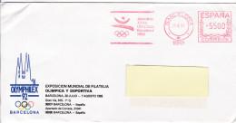 Olympiques Olympic 1992 Barcelona Red Meter Freistempel Ema OLYMPHILEX - Summer 1992: Barcelona