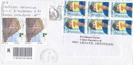 REPUBBLICA.ITALIA.BUSTA...BLOCCO DI SEI.COPPIA.GIORNATA DELLA FILATELIA.LIBRERIA UNIVERSITà ROMA.SAVIGNANO..5542 - 6. 1946-.. Republic