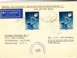 Austria / Airmail / Netherlands / Surinam / Censorship / Children - Autriche