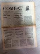 Combat N°8811 Du 16/11/72 : Saîgon - Peron - Nixon - J. Savard  (jauni) - 1950 - Oggi