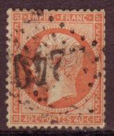 FRANCE - 1862 - YT N°23 -  Napoleon III - Losange Grands Chiffres - 1862 Napoleon III