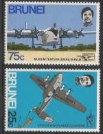 1972 Brunei  RAF Museum Aviation Plane  Complete Set  Of 2 MNH - Brunei (1984-...)