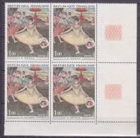"""N° 1653 Oeuvres D´Art: La Danseuse """" Au Bouquet """"  Saluant De Degas:  Un Beau Bloc De 4  Timbre Neuf Impeccable - France"""
