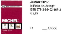 MlCHEL Junior Deutschland Briefmarken Katalog 2017 Neu 10€ D DR 3.Reich Danzig Saar Berlin SBZ DDR BRD 978-3-95402- - Sammlungen