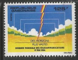 1984 Gabon  Telecommunications Complete Set  Of 1 MNH - Gabun (1960-...)