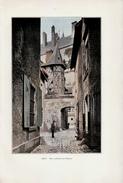 1901 - Phototypie Couleurs - Gien (Loiret) - Une Rue Conduisant Au Château -  FRANCO DE PORT - Unclassified