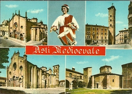 Asti (Piemonte) Vedute Delle Chiese Della Città, Eglises De La Ville - Asti
