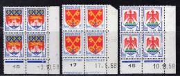 N° 1183/1047/1184 Neuf ** En Bloc De 4 Avec Coin Daté  TB - Angoli Datati
